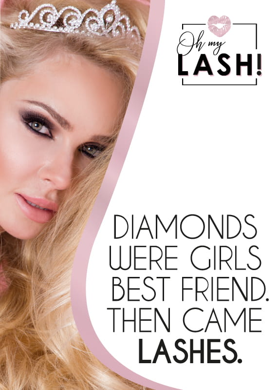 OH MY LASH! POSTER DIAMONDS