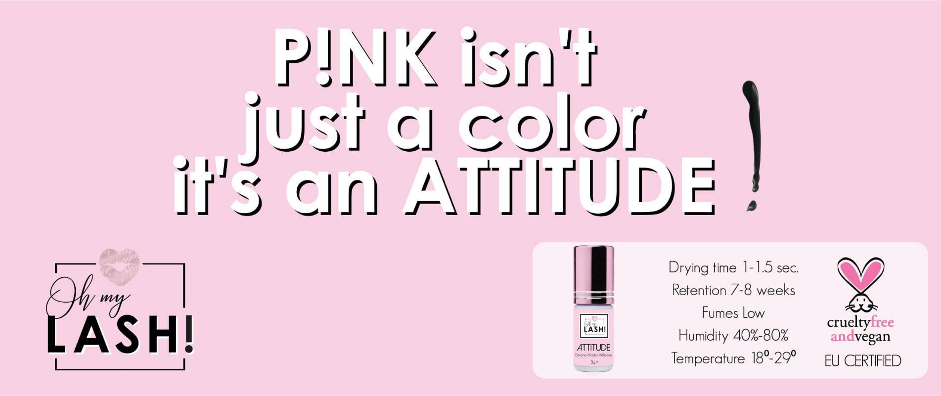 OhMyLash Pink is niet alleen een kleuren - poster
