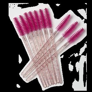 Mascara borsteltjes glitter roze